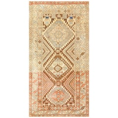 Tribal Vintage Caucasian Shirvan Rug. Size: 3 ft 10 in x 7 ft 4 in