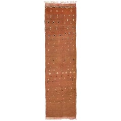 Tribal Vintage Moroccan Hall Runner Rug. Size: 5 ft 5 in x 17 ft 1 in