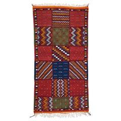 Tribal Vintage Moroccan Handwoven Wool Rug