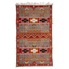 Tribal Vintage Moroccan Large Rug, Carpet Handwoven Organic Wool and Dye