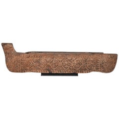 Tribal Wooden Carving from Flores, Indonesia, Early-Mid 20th Century, Mounted