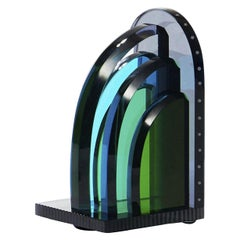 Tribeca Crystal Book End, Hand-Sculpted Contemporary Crystal