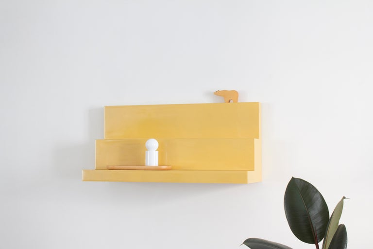 Modern Tribune Shelf in Lacquered Wood by Sabourin Costes, France, 2020 For Sale
