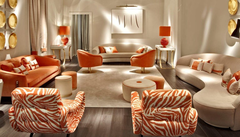 Mid-Century Modern Tribute to Midcentury Design, Italian Armchair in Funky Zebra For Sale