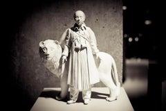 Exile of the Manticore ll, Figurative, Surreal, Porcelain, Sculpture