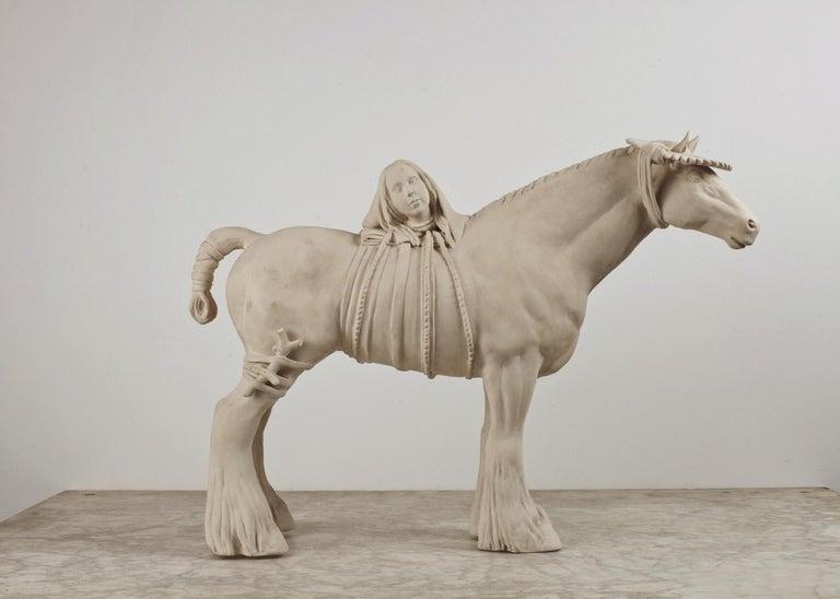 Tricia Cline Figurative Sculpture - Loud Neigh