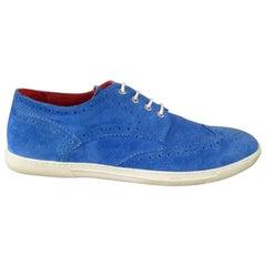 TRICKER'S X JUNYA WATANABE 11 Blue Suede Wingtip Brogue Sneakers