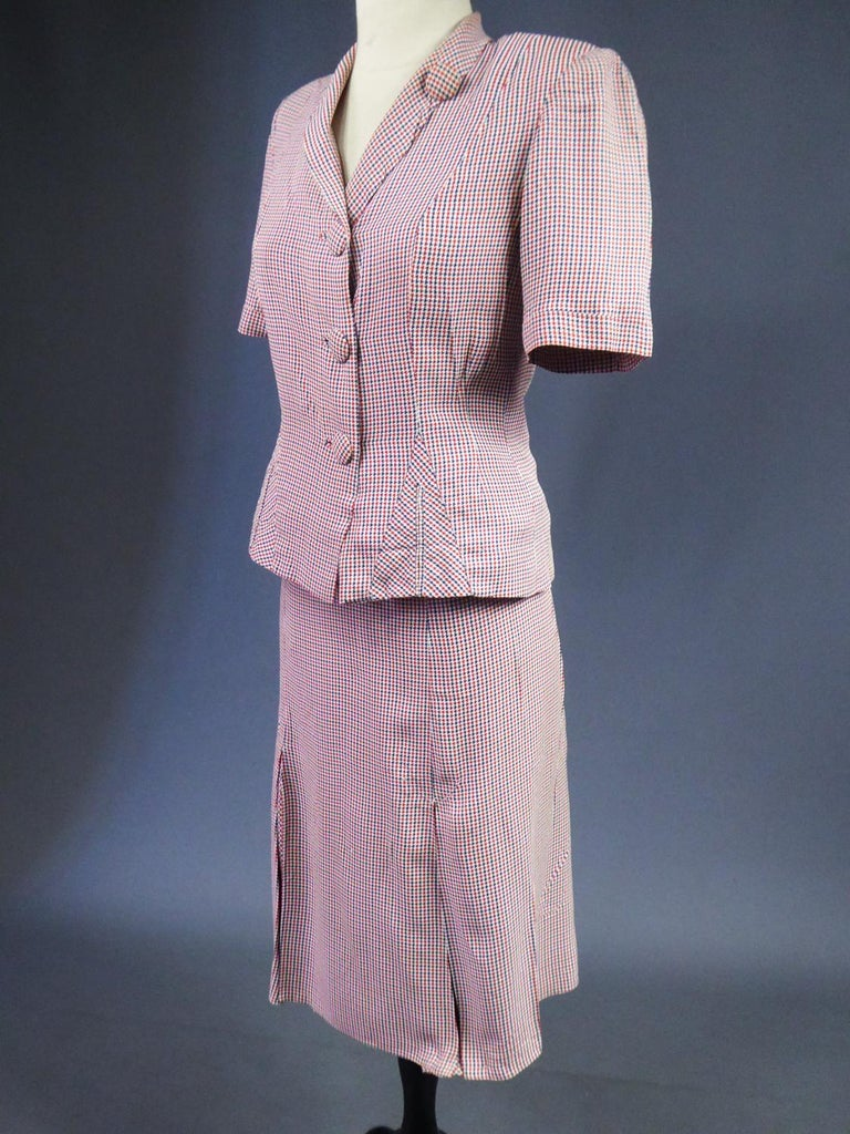 Tricolor Bar Suit From Liberation - France Circa 1945 For Sale 5