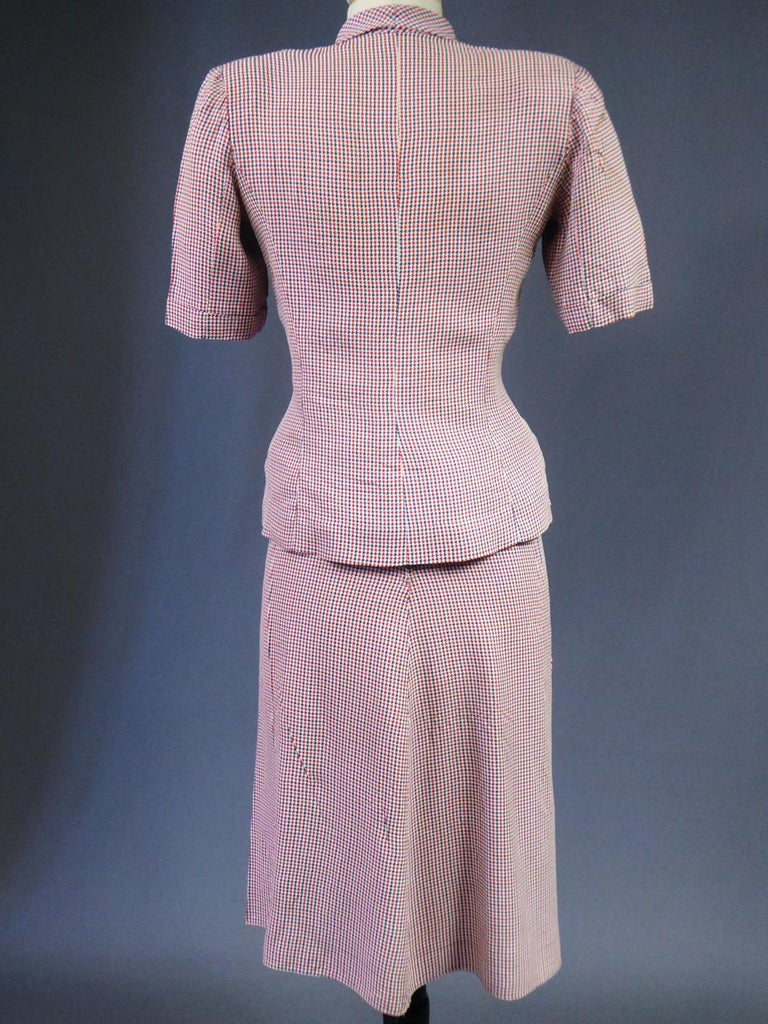 Tricolor Bar Suit From Liberation - France Circa 1945 For Sale 8