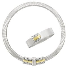 Tricolor Gold and Silver Set by Cartier