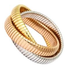 Tricolor Gold Tubogas Rolling Bracelet