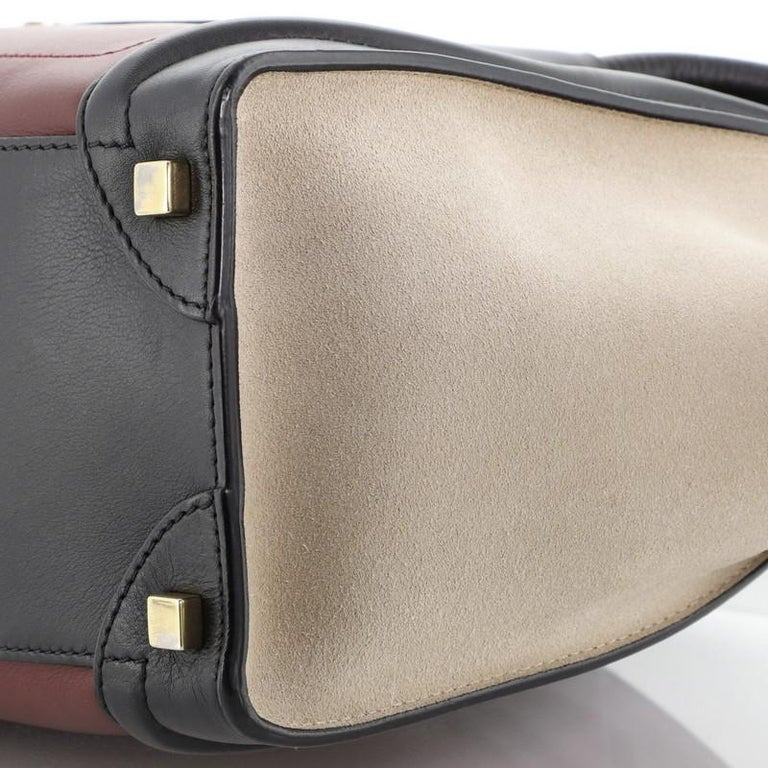 Tricolor Luggage Bag Leather Micro For Sale 1