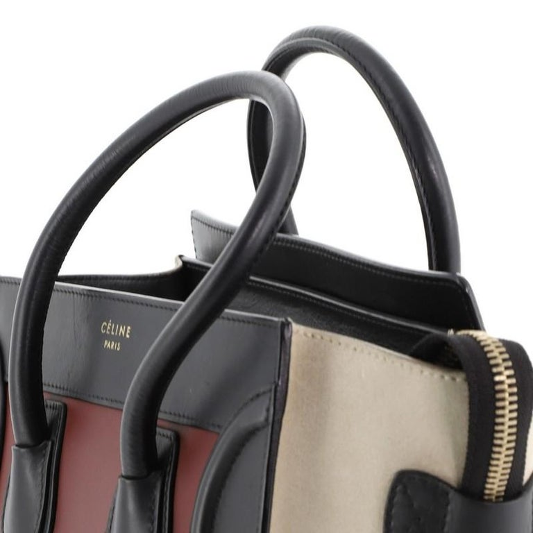 Tricolor Luggage Bag Leather Micro For Sale 2