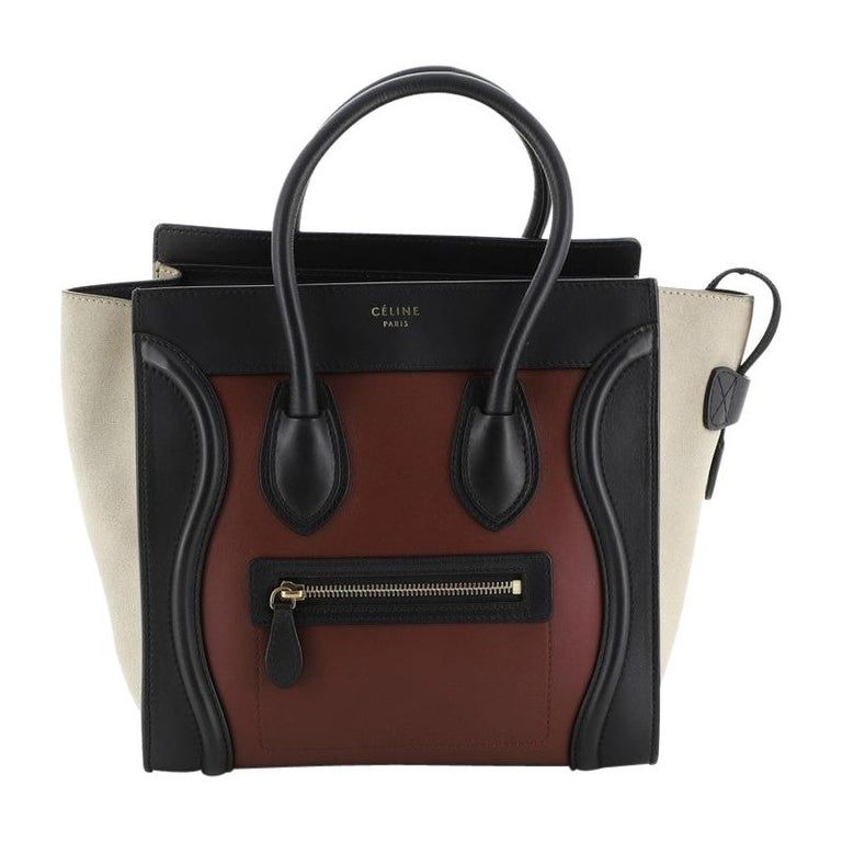 Tricolor Luggage Bag Leather Micro For Sale