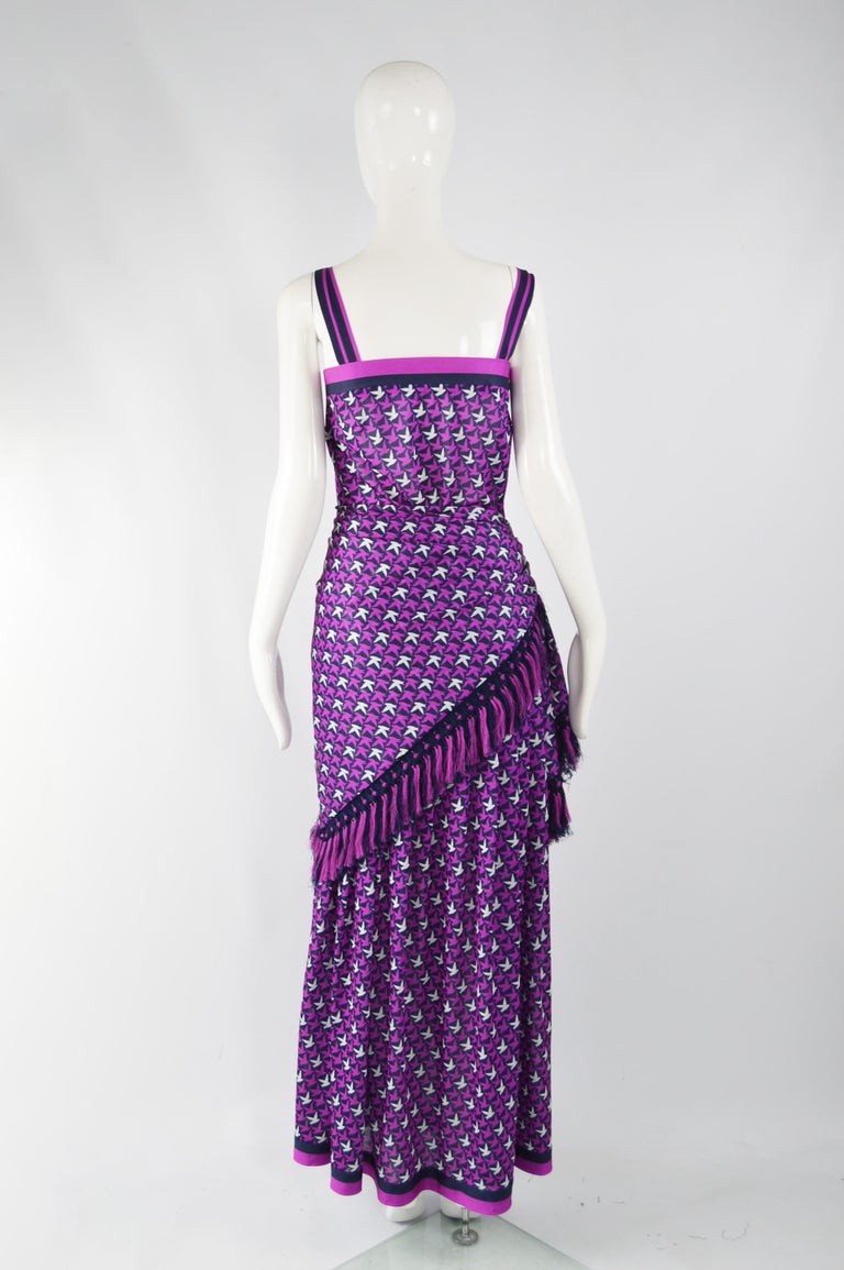 Tricosa Paris Vintage 1970s Maxi Dress & Scarf For Sale 5
