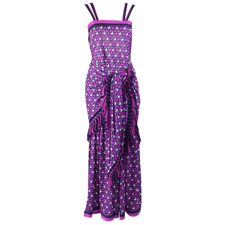 Tricosa Paris Vintage 1970s Maxi Dress & Scarf