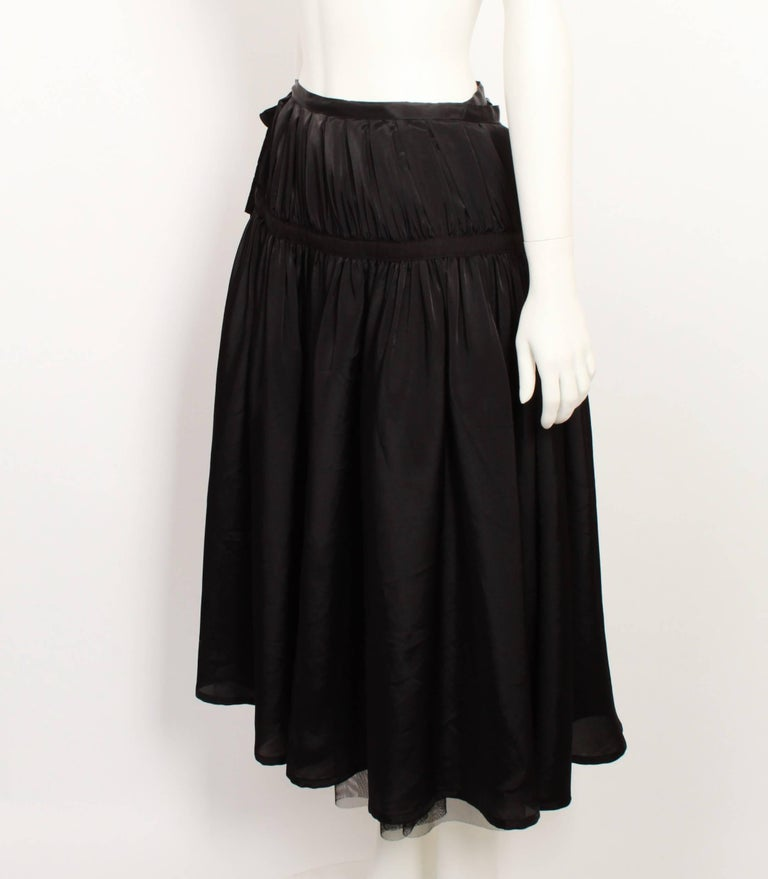 Black Tricot By Comme Des Garcons Tulle Wrap Skirt For Sale