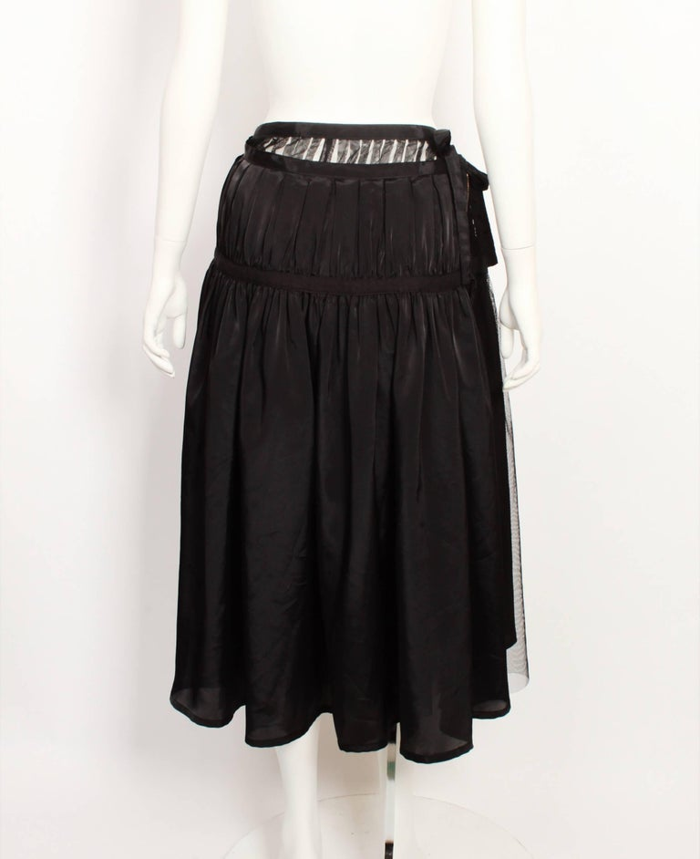 Tricot By Comme Des Garcons Tulle Wrap Skirt In Good Condition For Sale In Melbourne, Victoria