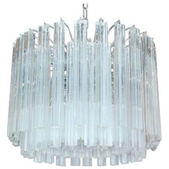 Triedri Drum Chandelier by Venini