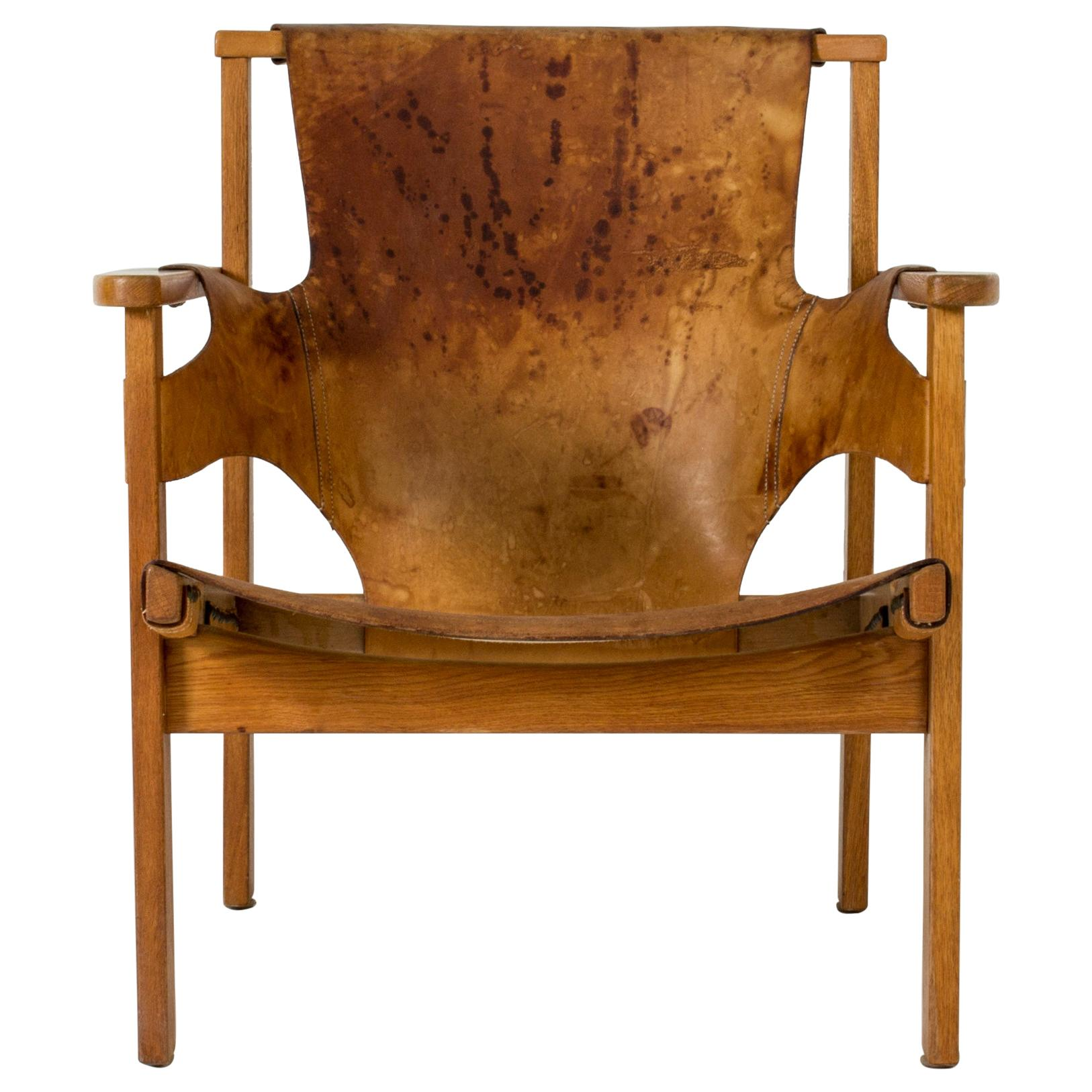 """""""Trienna"""" Leather Lounge Chair by Carl-Axel Acking"""
