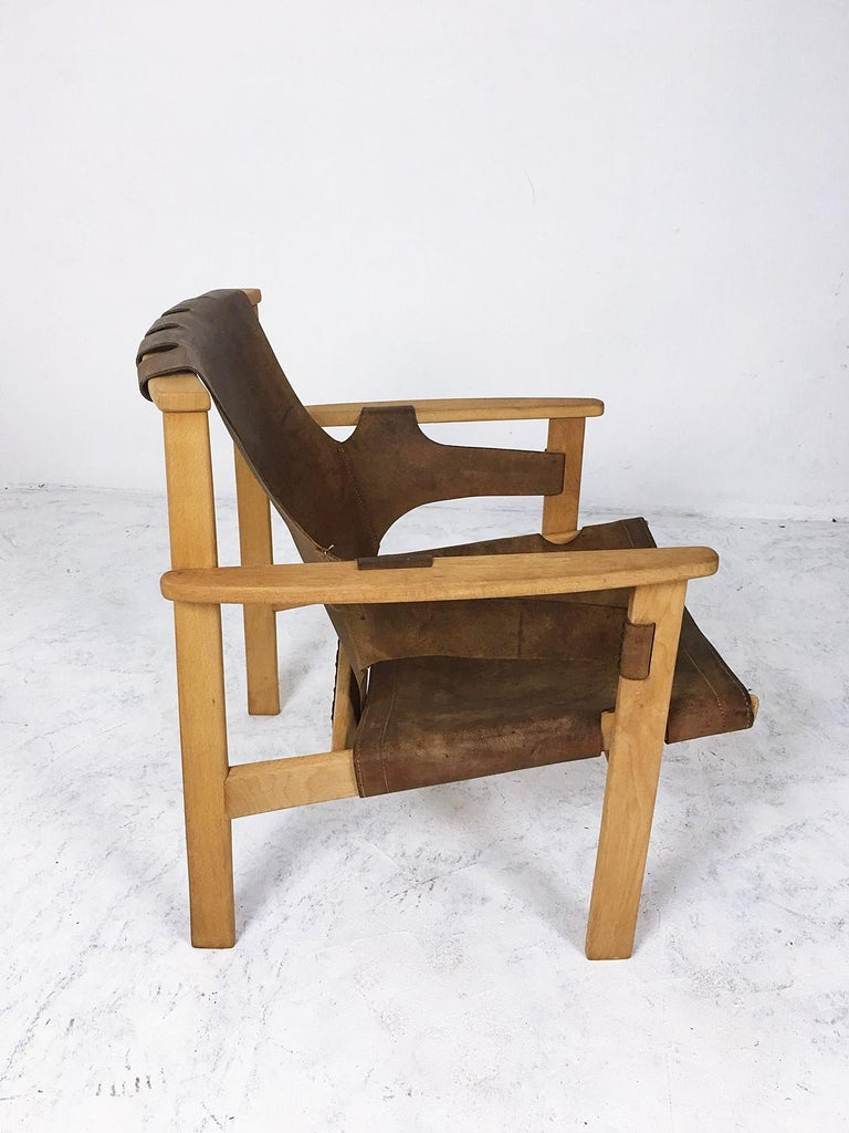 Oak Trienna Lounge Chair by Carl-Axel Acking For Sale