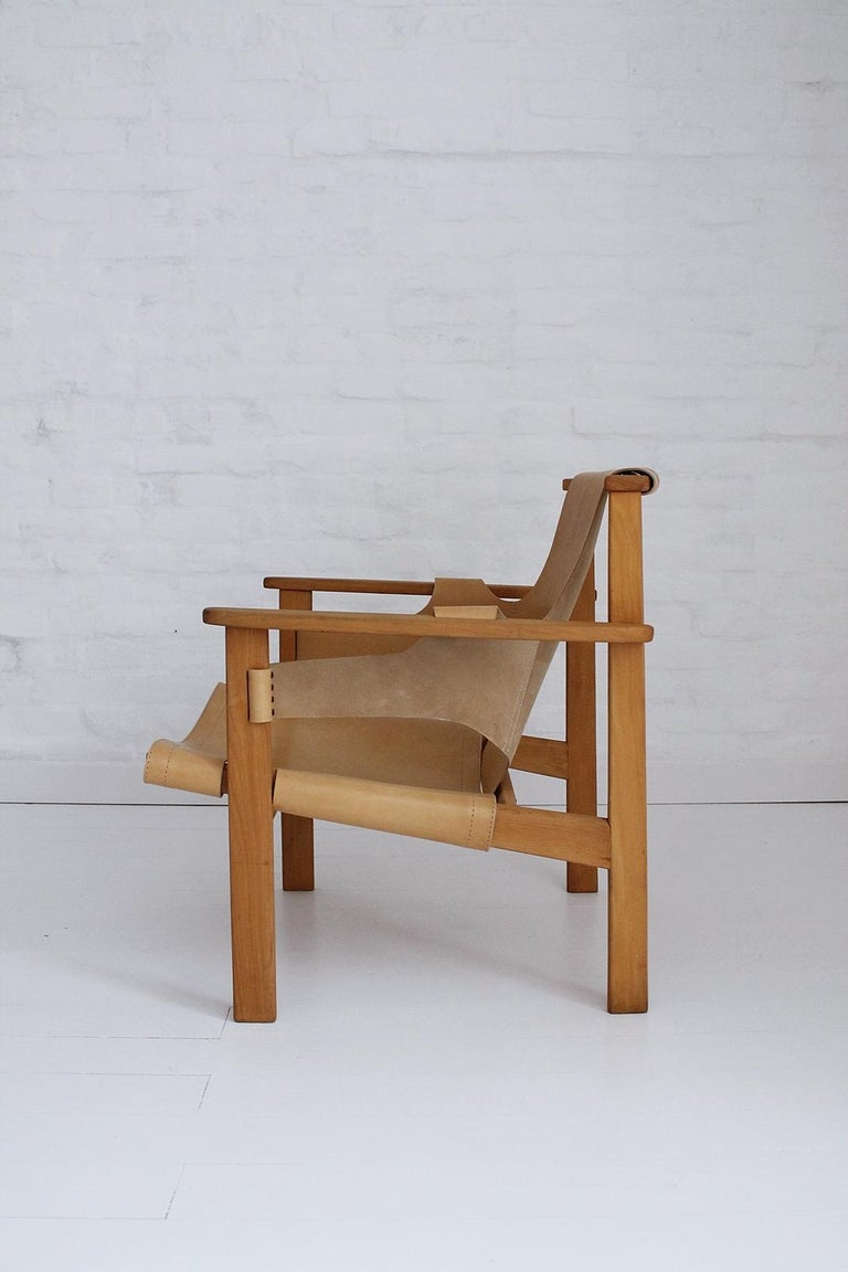 Wood Trienna Lounge Chair by Carl-Axel Acking For Sale