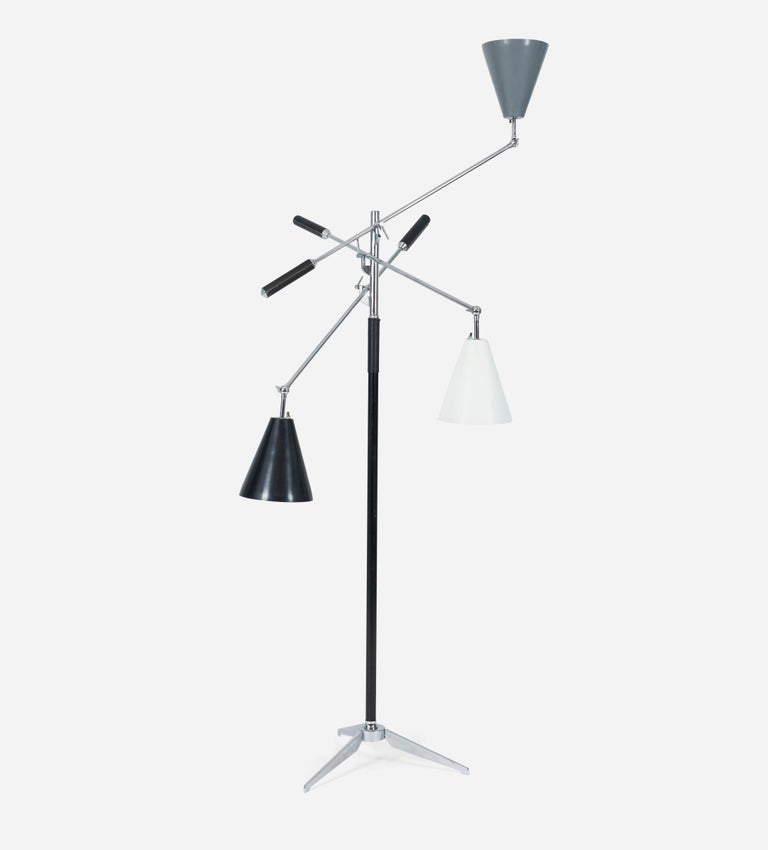 Mid-20th Century Triennale Floor Lamp, Angelo Lelli for Arredoluce For Sale