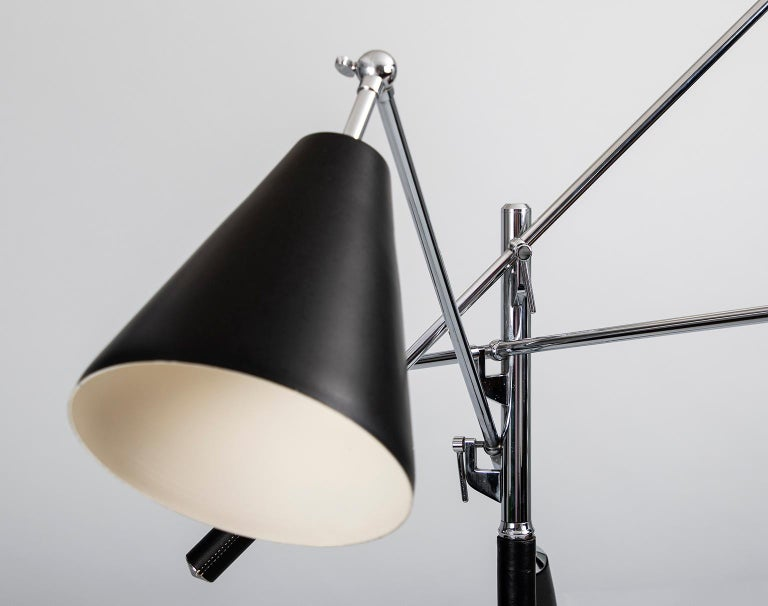 Italian Triennale Floor Lamp in the Style of Angelo Lelii for Arredoluce, Italy 1950's For Sale