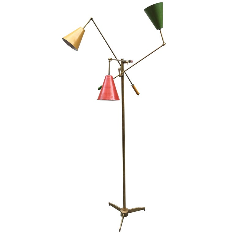 Arredoluce and Angelo Lelli Style Triennale Floor Lamp, Italy, 1960s