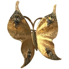 Trifari 1950s Butterfly Brooch