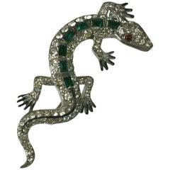 Trifari Alfred Philippe Art Deco Lizard Brooch