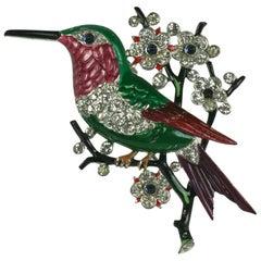 Trifari Alfred Philippe Humming Bird Brooch
