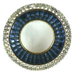 Trifari Alfred Philippe Invisibly Set Circle Brooch