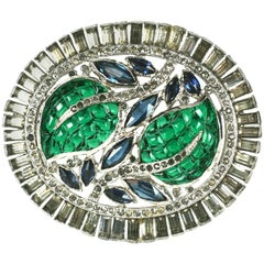 Trifari Alfred Philippe Invisibly Set Oval Brooch