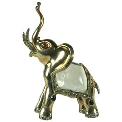 Trifari Alfred Philippe Jelly Belly Trumpeting Elephant Brooch