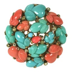 Trifari Alfred Philippe Tricolour Fruit Salad Brooch
