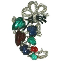Trifari Fruit Salad Spray Clip Brooch