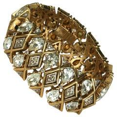 Trifari Glamour Rhinestone Bracelet