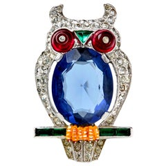 Trifari Jelly Belly Owl Fur Clip by Alfred Philippe