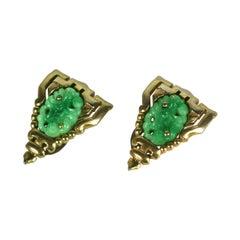 Trifari Ming Series Jade Clips