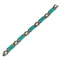 Trifari Ming Series Turquoise Early Bracelet