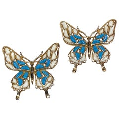 Trifari Modern Mosaic 1966 Butterfly Brooches