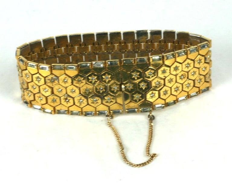 Trifari Retro Tread Bracelet In Excellent Condition For Sale In Riverdale, NY