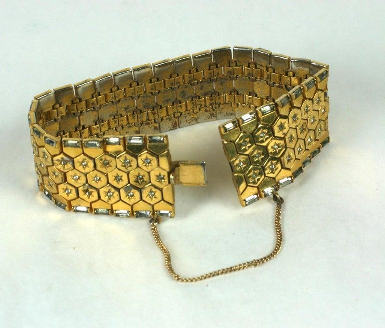 Women's or Men's Trifari Retro Tread Bracelet For Sale