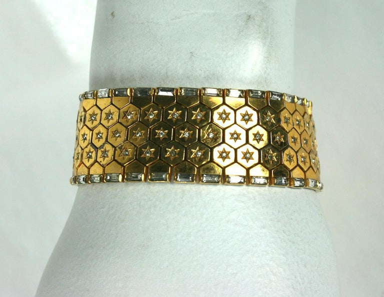 Trifari Retro Tread Bracelet For Sale 1