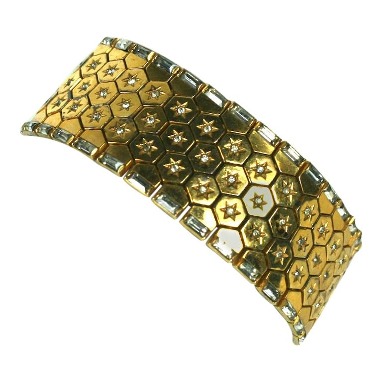 Trifari Retro Tread Bracelet For Sale