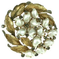 Trifari Tooth Pearl Brooch, Sorrentino Series