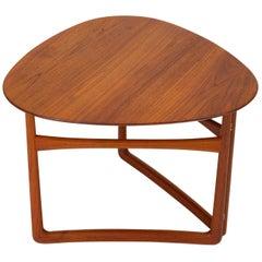 Trilateral Folding Side Table by Peter Hvidt and Orla Mølgaard-Nielsen