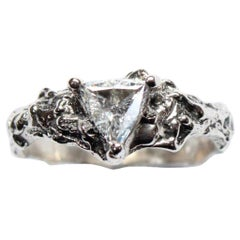 Trillion 14 Karat White Gold Diamond Ring
