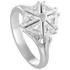 Trillion Diamonds Platinum Ring